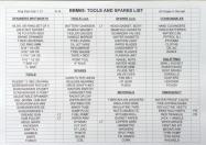 SPARES LIST 14