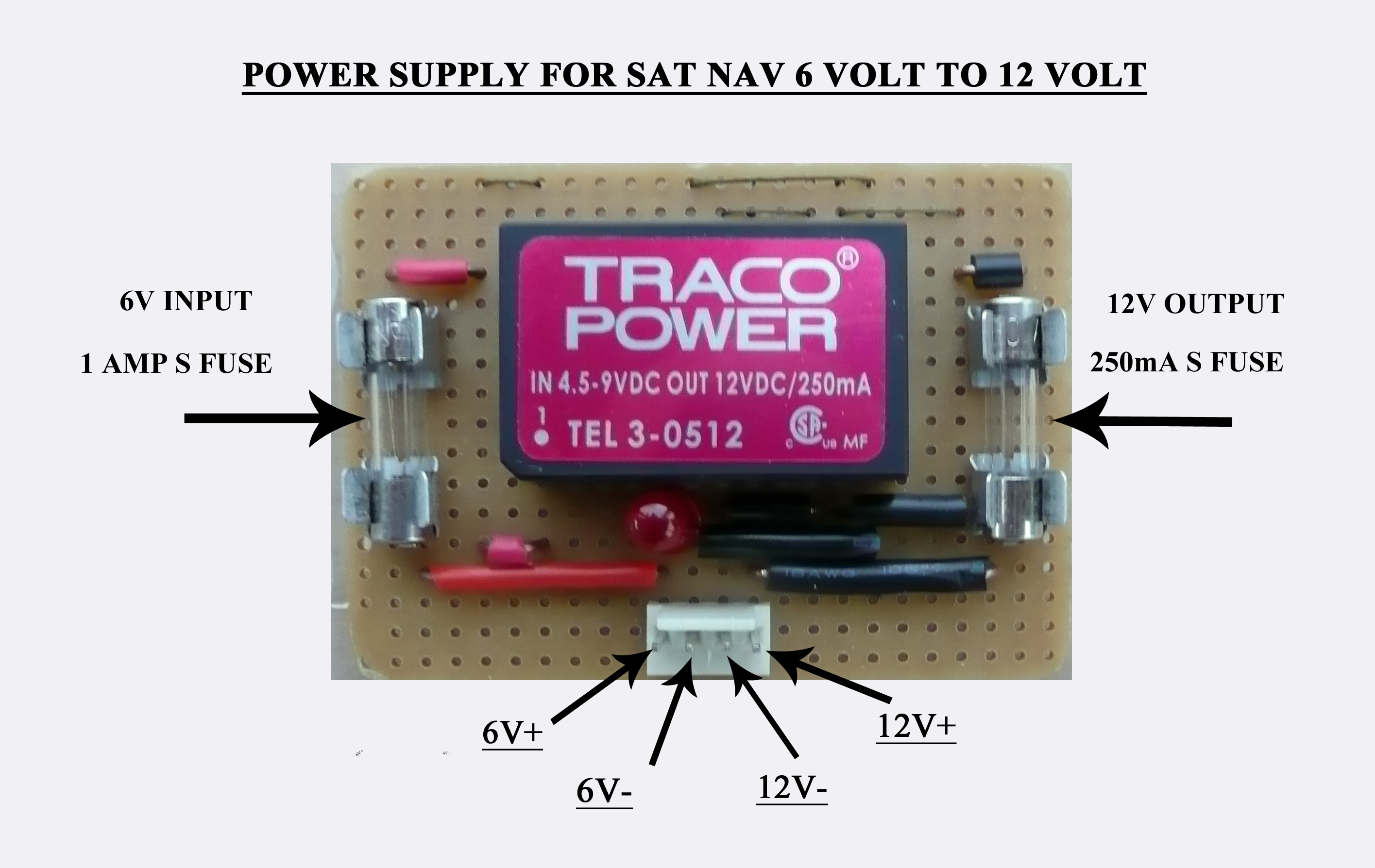 6 VOLT TO 12 VOLT CONVERTER FOR SAT NAV ONLY | BBM69