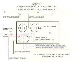6V FLASHER BOARD ELECTRONIC